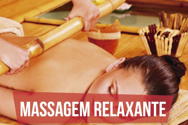 Massagem Relaxante com Bambuterapia